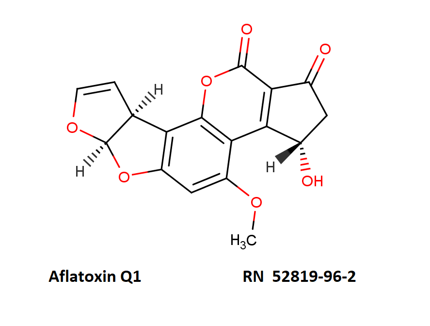 Aflatoxin Q1       RN  52819-96-2  after comptox.epa.